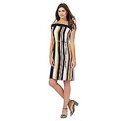 Principles Petite by Ben de Lisi - Multi-coloured striped print petite dress