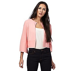 Principles Petite by Ben de Lisi - Light pink edge to edge cardigan