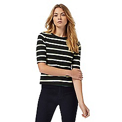 Principles Petite by Ben de Lisi - Black striped petite top