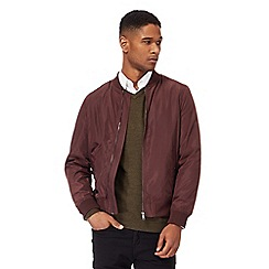 J by Jasper Conran - Big and tall dark red bomber jacket