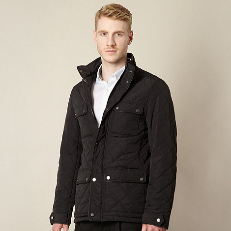 J by Jasper Conran - Designer men's black quilted jacket