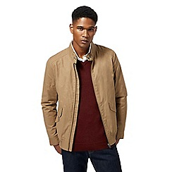 J by Jasper Conran - Big and tall taupe Harrington jacket