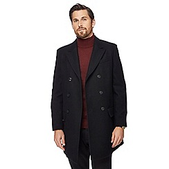 J by Jasper Conran - Black double-breasted wool rich coat