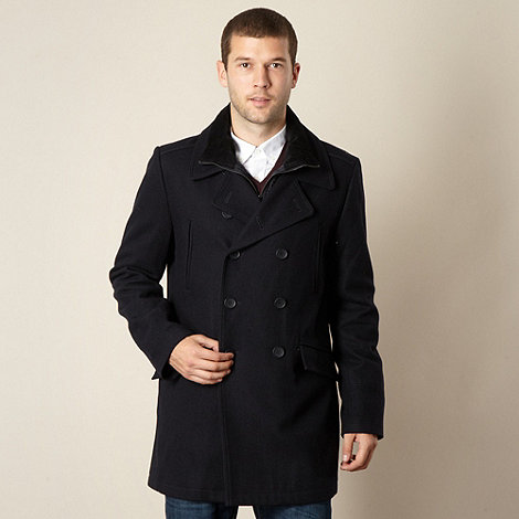 J by Jasper Conran - Big and tall designer navy double breasted jacket