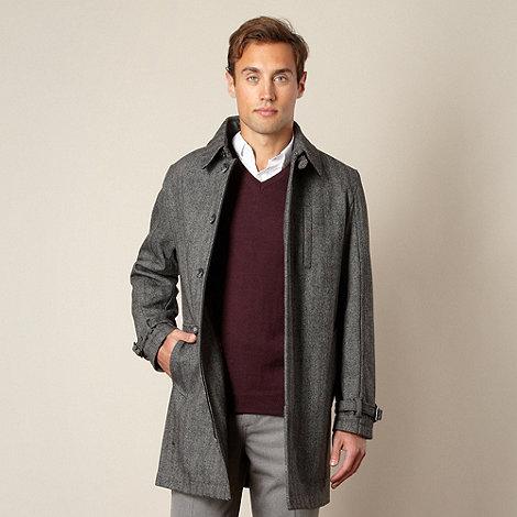 J by Jasper Conran - Designer grey herringbone coat