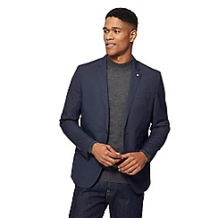 J by Jasper Conran - Big and tall blue synthetic blazer