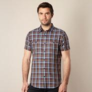 Designer brown wide checked shirt