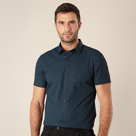 J by Jasper Conran - Designer turquoise deco shirt