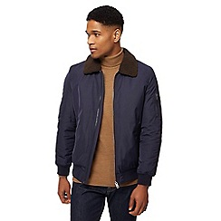 J by Jasper Conran - Big and tall navy flight jacket