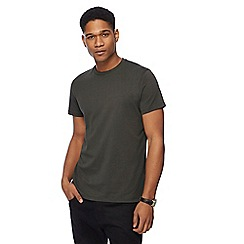 J by Jasper Conran - Big and tall dark green crew neck t-shirt