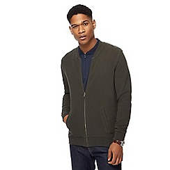 J by Jasper Conran - Big and tall dark green baseball jacket