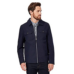 J by Jasper Conran - Navy Harrington jacket with linen