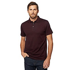 J by Jasper Conran - Big and tall dark red mini birdseye polo shirt