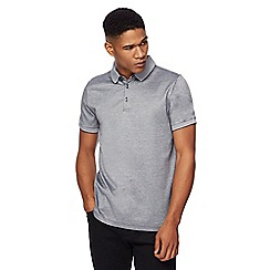 J by Jasper Conran - Black mini birdseye polo shirt