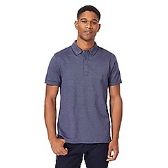 J by Jasper Conran - Blue birdseye polo shirt