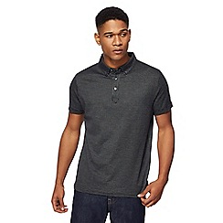 J by Jasper Conran - Black birdseye polo shirt