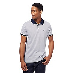 J by Jasper Conran - White and navy geometric print polo shirt