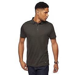 J by Jasper Conran - Big and tall dark green polo shirt
