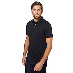 J by Jasper Conran - Big and tall black polo shirt