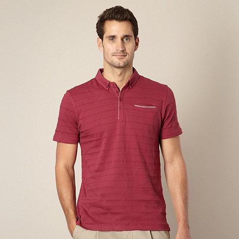J by Jasper Conran - Designer wine textured polo shirt