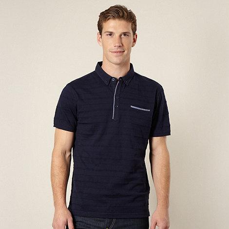 J by Jasper Conran - Designer navy pique striped polo shirt