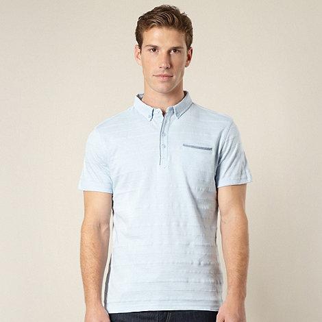 J by Jasper Conran - Designer light blue pique striped polo shirt