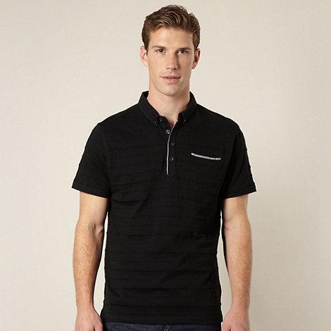 J by Jasper Conran - Designer black pique striped polo shirt