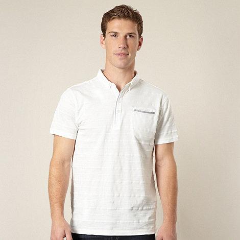 J by Jasper Conran - Designer white pique striped polo shirt
