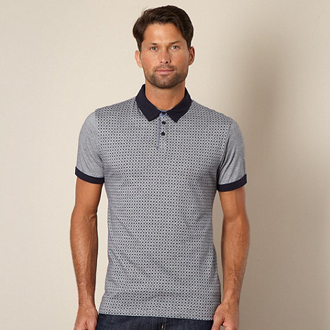 J by Jasper Conran - Designer blue diamond print polo shirt