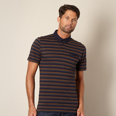 J by Jasper Conran - Designer navy stitch striped polo shirt