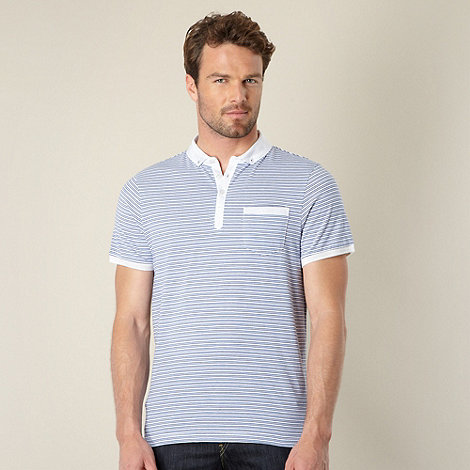 J by Jasper Conran - Designer blue striped polo shirt