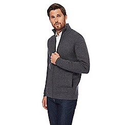 J by Jasper Conran - Dark grey lambswool cardigan