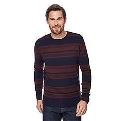 J by Jasper Conran - Navy merino blend striped jumper
