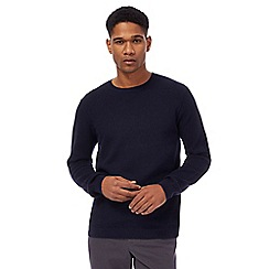 J by Jasper Conran - Navy texture crew neck jumper