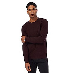 J by Jasper Conran - Purple texture crew neck jumper