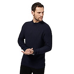 J by Jasper Conran - Navy chunky knit jumper