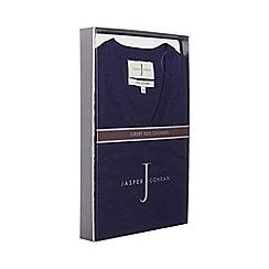 J by Jasper Conran - Blue V-neck cashmere jumper in a gift box