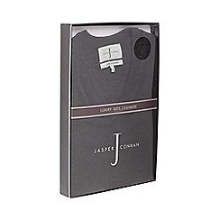 J by Jasper Conran - Dark grey V-neck cashmere jumper in a gift box