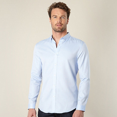 J by Jasper Conran - Designer pale blue oxford shirt