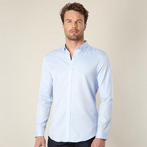 J by Jasper Conran - Big and tall designer pale blue oxford shirt