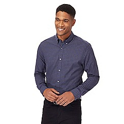J by Jasper Conran - Navy grid check shirt