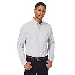 J by Jasper Conran - Grey brushed herringbone shirt