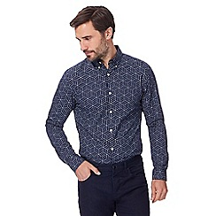 J by Jasper Conran - Big and tall navy cube print shirt