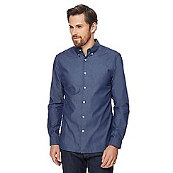 J by Jasper Conran - Dark blue long sleeved shirt