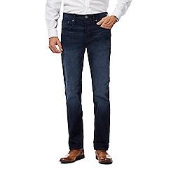 J by Jasper Conran - Big and tall dark blue mid wash straight leg jeans
