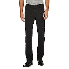 J by Jasper Conran - Big and tall black straight leg jeans