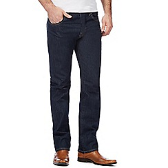 J by Jasper Conran - Big and tall dark blue straight leg jeans