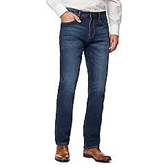 J by Jasper Conran - Big and tall mid blue vintage wash straight leg jeans