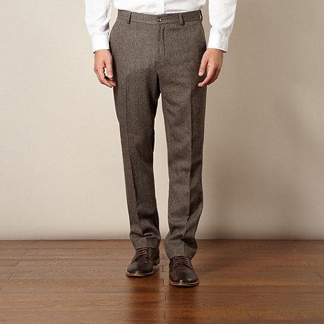 J by Jasper Conran - Designer brown herringbone trousers