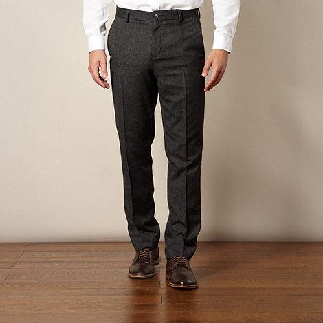 J by Jasper Conran - Designer dark grey textured trousers